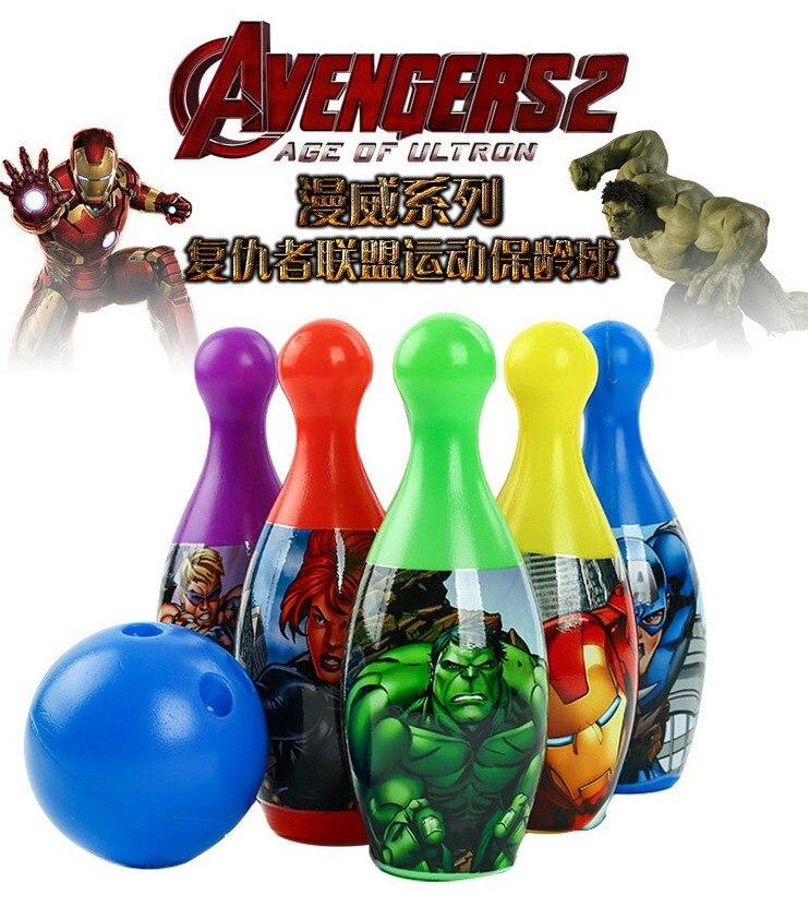 Didsney Открытый забавная игрушка спортивные Аутентичные marvini Детский костюм для боулинга Мстители Боулинг головоломка набор игрушек для детей
