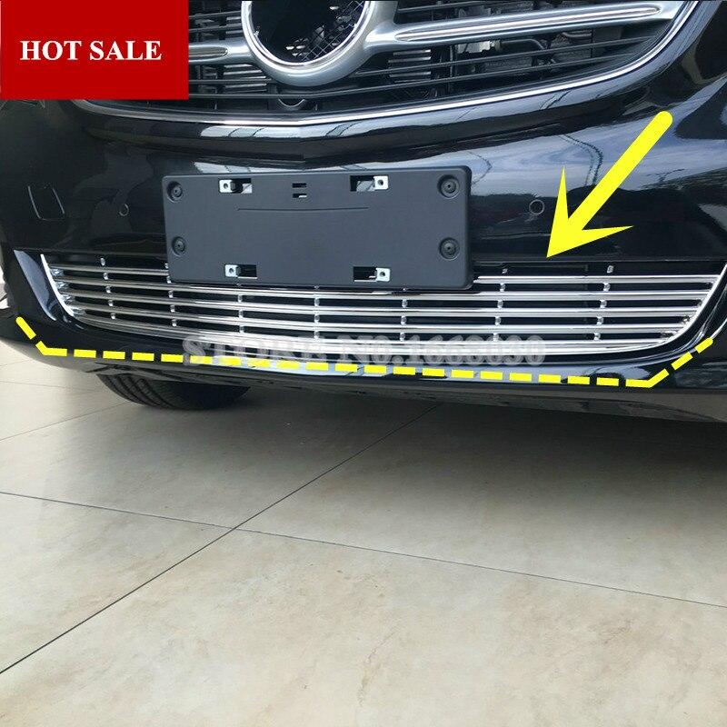 ABS Cromato Anteriore Griglia Griglia Modanatura Della Copertura Per Benz V-Class W447 2014-2018