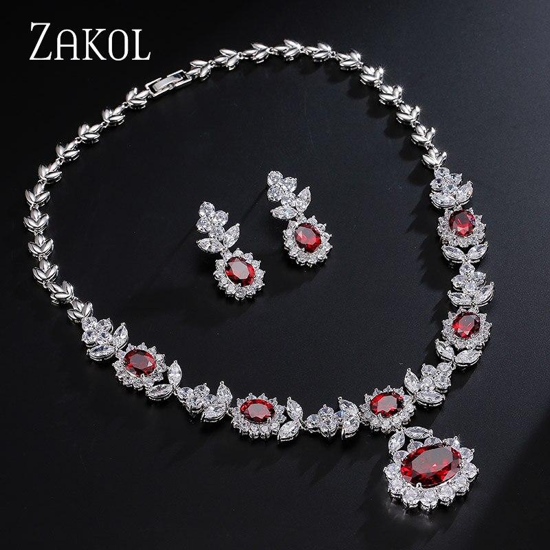 ZAKOL Luxury Sliver Color մուգ կապույտ AAA - Նորաձև զարդեր - Լուսանկար 4