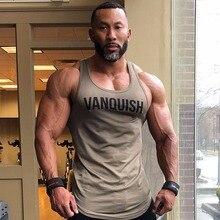 2018 Gyms Tank Tops Men's Cotton Waistcoat Elastic O-neck Gyms Tank Top Men's Sleeveless Muscle Man Fitness Tops