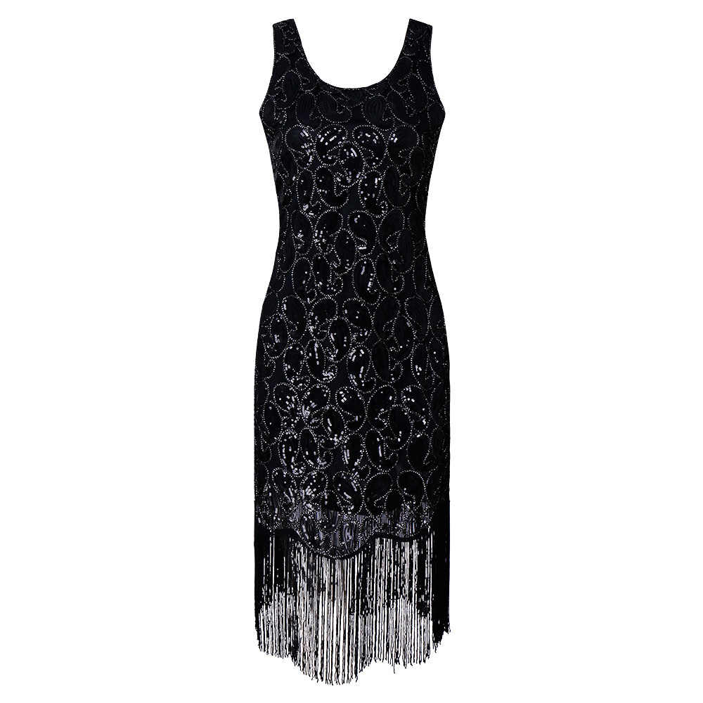 587219a4 1920s Flapper Dress Roaring 20s Great Gatsby Costume Dress Fringed Sequin  Dress Embellished Art Deco Dress