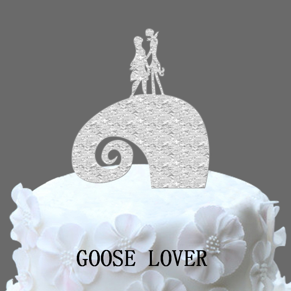 The Nightmare Before Christmas Jack & Sally Silhouette Wedding Cake ...