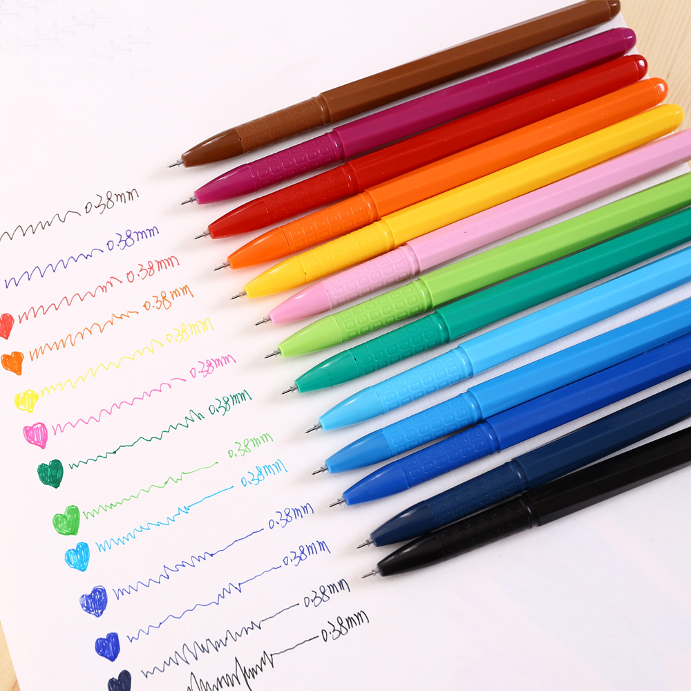 M&G AGP62403 RollerBall pen Gel ink pen 0.38mm 13 Colors Office and schoole stationery wholesale rollerball pen 0 5 tip m