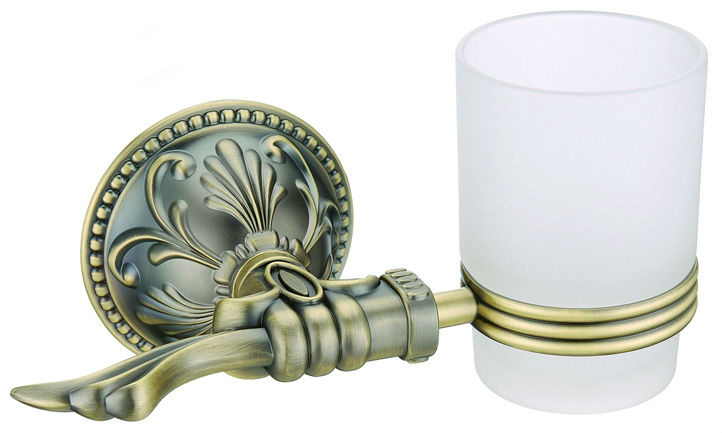 Free Shipping,Single Tumbler Holder,Toothbrush Cup Holder, Antique Bronze finish glasss cup,Bathroom Accessories AB001b
