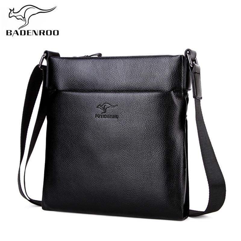 2439b8ddd944 Badenroo brands 2018 New Cowhide Male Bag Shoulder Bag Genuine Leather Men  Messenger Bags Zipper Design