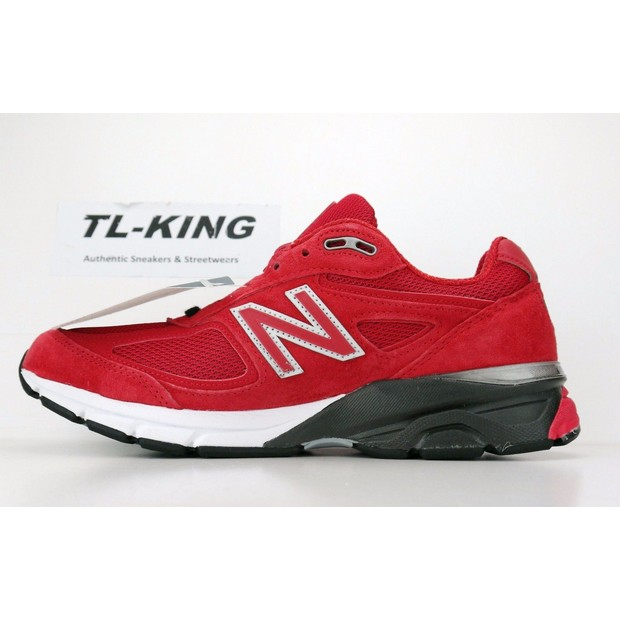 New Balance in USA M990V4 Alpha Classic Red Sneakers Retro M990rd4 Sport Shoes Men Sneakers NB990 Tennis Shoes new balance 990v2 made in the usa