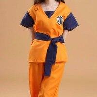 Tops Pants Belt Wrist New Two Style Adult Dragon Ball Z Son Goku Cosplay Costume Halloween