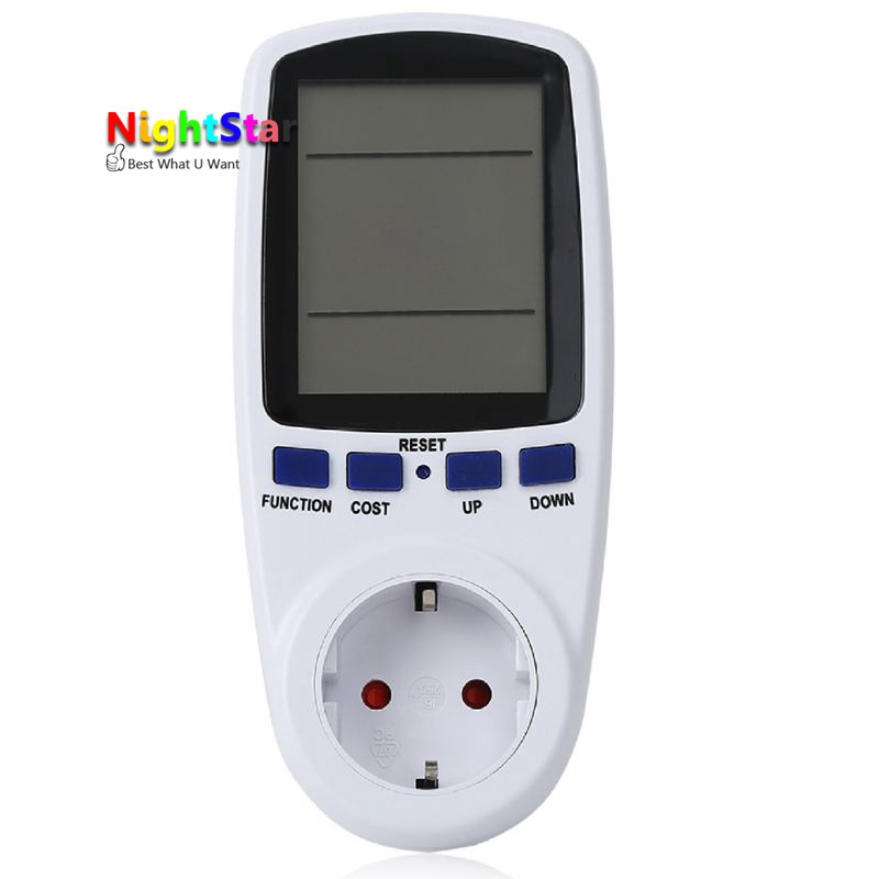 Digital Power Meter Energy Meter Volt Voltage Wattmeter Power Analyzer Electronic Power Energy Meter Measuring EU Socket digital power meter energy meter volt voltage wattmeter power analyzer electronic power energy meter measuring outlet socket eu