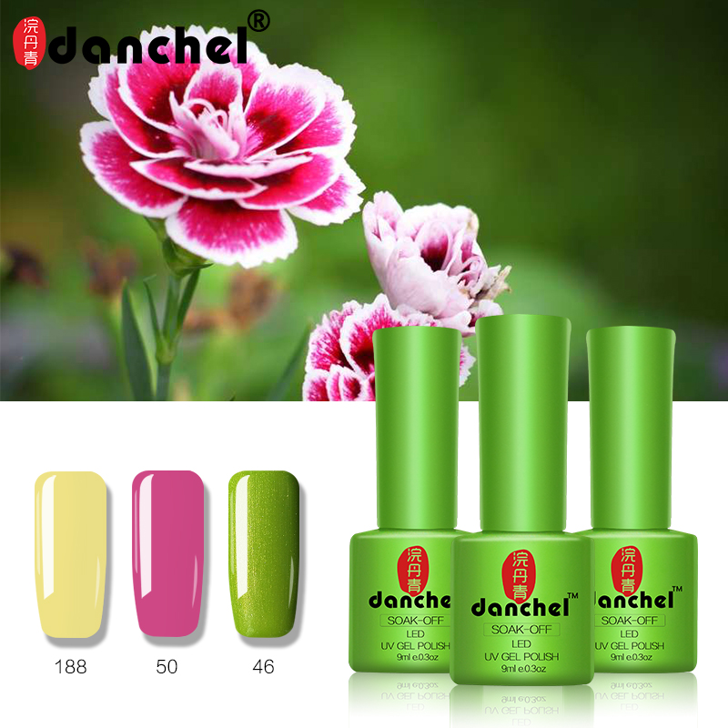 купить 3pcs Danchel Gelpolish Soak Off UV Nail Gel Polish Varnish Gel Base Top Coat UV Lamp Nail Art Design Gel Lacquer Manicure Set онлайн
