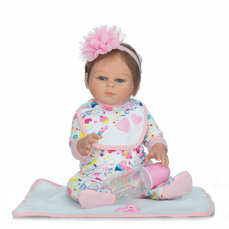 Soft Silica gel Doll 50cm Reborn Doll Appease Doll Lifelike Babies play play house toy for Children's Christmas Birthday Gift soft silica gel doll 57cm reborn baby appease doll lifelike babies play play house toy for children s christmas birthday gift