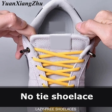 1Pair No Tie Shoe laces Semicircle Elastic ShoeLaces Kids Adult Sneakers Quick Shoelace Lazy Laces 15 Color lacets baskets