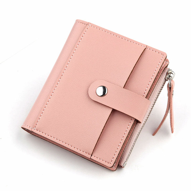 Stylish Small Square Durable Leather Women's Wallet