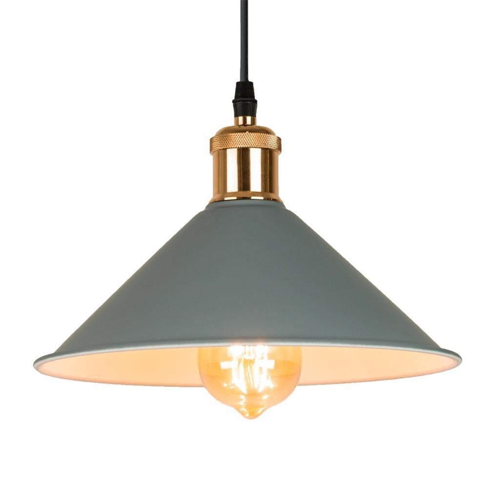 Современные промышленные подвесные светильники, винтажная Подвесная лампа, ретро подвесной абажур, освещение ресторана/бара/Кофейни