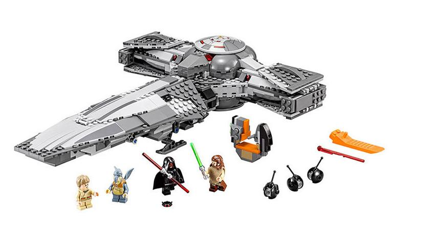 698PCS LEPIN 05008 Star Wars Sith Infiltrator Building Block set DIY Bricks Toys Gift Compatible With Legoed 75096 for children