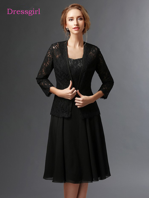 Black 2018 Mother Of The Bride Dresses A Line Chiffon Lace With