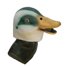 Rubber Animal Mask Latex Party Yellow Duck Animals Adult Cosplay Halloween Masquerade