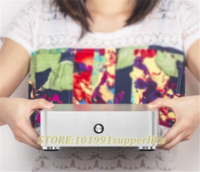 DEBROGLIE 1 PZ H60 itx caso di Alluminio della cassa del PC HTPC per mini ITX scheda madre con 120 w alimentazione + 150 w DC BordoDEBROGLIE 1 PZ H60 itx caso di Alluminio della cassa del PC HTPC per mini ITX scheda madre con 120 w alimentazione + 150 w DC Bordo