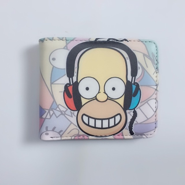 Animated Wallet The Simpsons Student Teen Short Boy and Girl Wallets W1164Y
