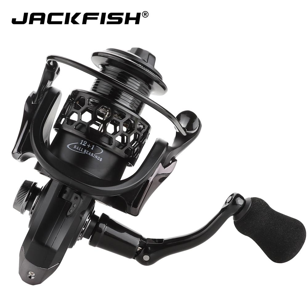 JACKFISH Spinning Fishing Reel 12 + 1BB Rueda de pesca para el agua - Pescando