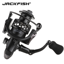JACKFISH Spinning Fishing Reel 12 + 1BB Roda Perikanan untuk Air Kayu Metal Spool Fishing Reels carpa molinete de pesca