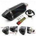 Universal Fibra De Carbono de carbono verdadeiro assassino Db 51mm Modificado silenciador Akrapovic Motocicleta Escape Silenciador tubo de Escape para A Maior Parte do motor