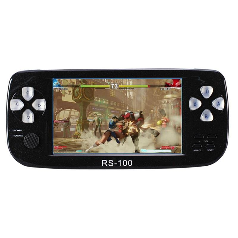 VODOOL RS-100 4.3 pouce HD Jeu Console 8 32 Peu Mini Joueur De Jeu De Poche Avec Lecteur Vidéo 2MP Caméra Pour FC/CP1/CP2/NEO/GEO/MD