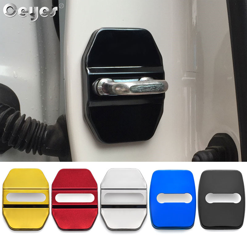 Ceyes Car Styling Auto Door Lock Cover <font><b>Sticker</b></font> Fit For <font><b>Bmw</b></font> M Mini F30 <font><b>F10</b></font> E46 E90 E39 For Mercedes Benz Amg For Fiat Accessories image
