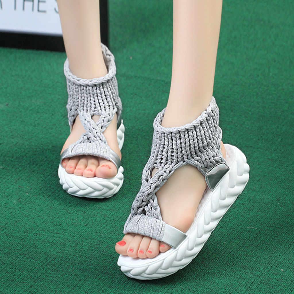 SAGACE ผู้หญิงรองเท้าแตะแพลตฟอร์มรองเท้าผู้หญิงฤดูร้อนแฟชั่นหนาด้านล่างรองเท้าผู้หญิง Retro โรมันรองเท้าแตะผู้หญิง Plat รองเท้าส้นสูง
