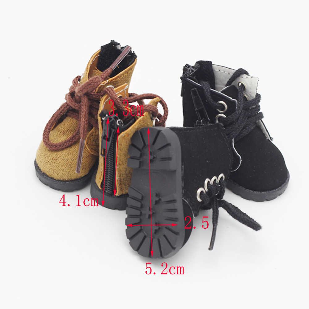 1 Thoáng Mát Búp Bê BJD Giày Quân Đội Ủng Ngắn Giày Bốt Martin Cho 1/6 BJD Búp Bê 5 Cm Giày Cho Búp Bê phụ Kiện