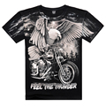 Famous Brand 2016 New Arrival 3D Eagle Printed On Shoulder Camisetas Casual Men's Wear Cotton T shirt Plus Size Free Shipping