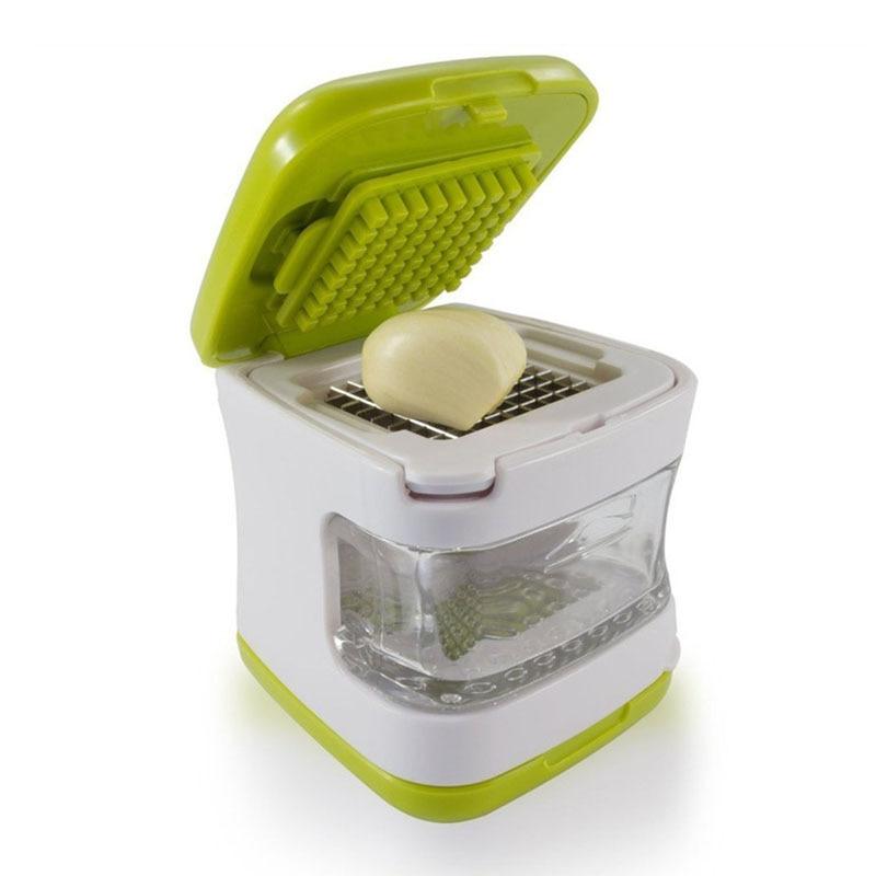 1Pcs Manual Garlic Press Garlic Cube Dicer Food Chopper Kitchen Gadgets Accessories Vegetable Slicer Cutter Tool