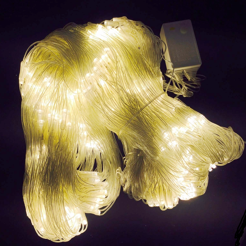 6Mx4M led net fish lights White/Blue/RGB/warm white led in/outdoor decoration light AC220V/110V with Plug garden home decor lamp