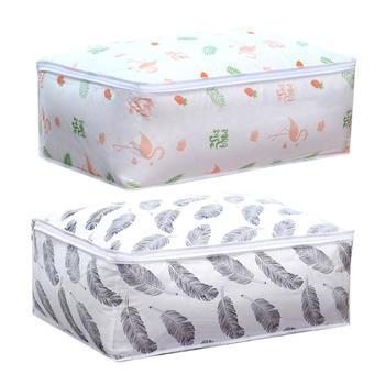 Flamingo Shape Quilt Storage Bag Home Clothes Pillow Blanket Travel Luggage Organizer Damp-proof Sorting 2