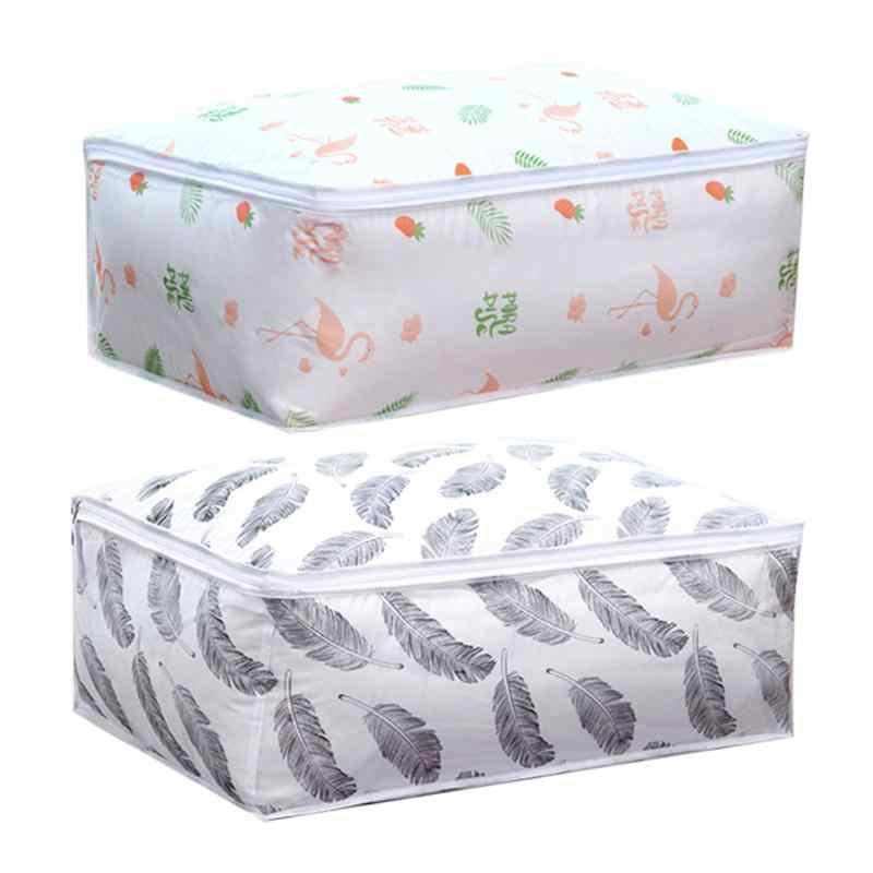 فلامنغو شكل تخزين اللحاف حقيبة المنزل الملابس لحاف وسادة بطانية حقيبة التخزين السفر الأمتعة المنظم حقيبة الفرز Dampproof