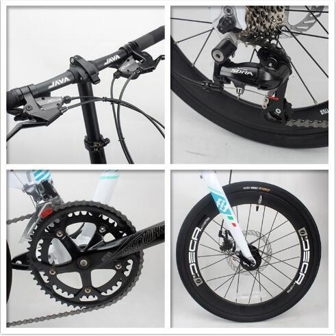 折りたたみアルミ合金バイク 20 インチ 18 速度ダブルディスクブレーキ大人都市高品質自転車ユニセックス  グループ上の スポーツ & エンターテイメント からの 自転車 の中 2