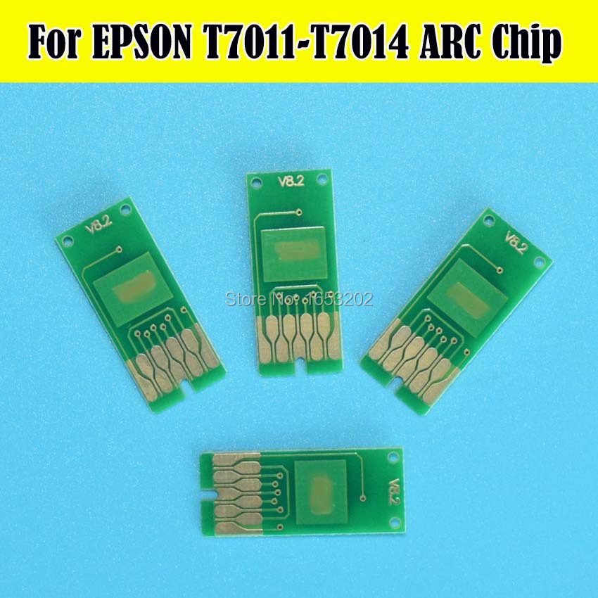 2Set T7011 T7014 Permanent Auto Reset ARC Chip For Epson WP 4025 WP 4015 WP 4515 WP 4525 WP 4535 WP 4545 Cartridge Chips in Cartridge Chip from Computer Office
