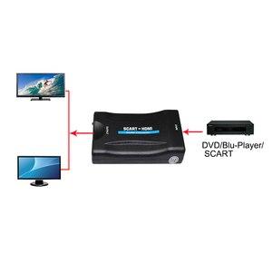 Image 5 - 1080 P SCART A HDMI Video Audio di Alto Livello Converter Adattatore per HD TV DVD per Sky Box STB Plug and gioco