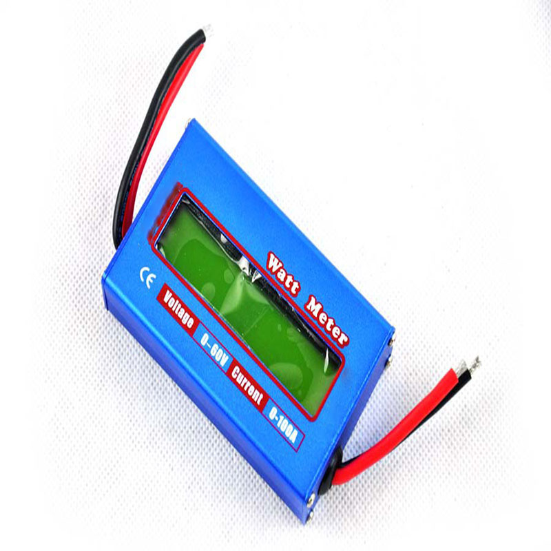 1Pcs Blue RC Watt Meter Checker DC 60V 100A Balance Voltage font b Battery b font