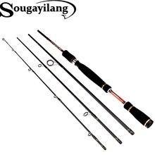Sougayilang 2.1 М 2.4 М 2.7 м спиннинг Рыбалка стержень 4 секции углерода спиннинг бас средний жесткий заманить стержень olta