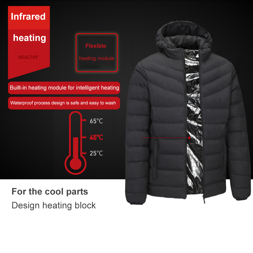 2018 Outdoor Electric Heating Jackets Men Women Feather Down Cotton ... 50d057d35
