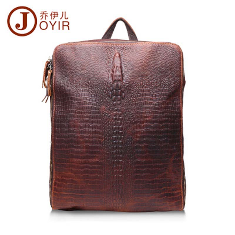 YISHEN Men's Casual Fashion Crocodile Shoulder Crossbody Bags Genuine Cowhide Leather Travel Business Male Messenger Bag QYR1225
