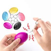 Self Defense Alarm 120dB Egg Shape Girl Women Security Protect Alert Personal Safety Scream Loud Keychain Emergency Alarm 2019