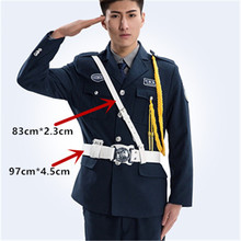 Men's Tactical Police white Belt Outdoor Military Belts for army uniform for security guard Adjustable and Comfortable