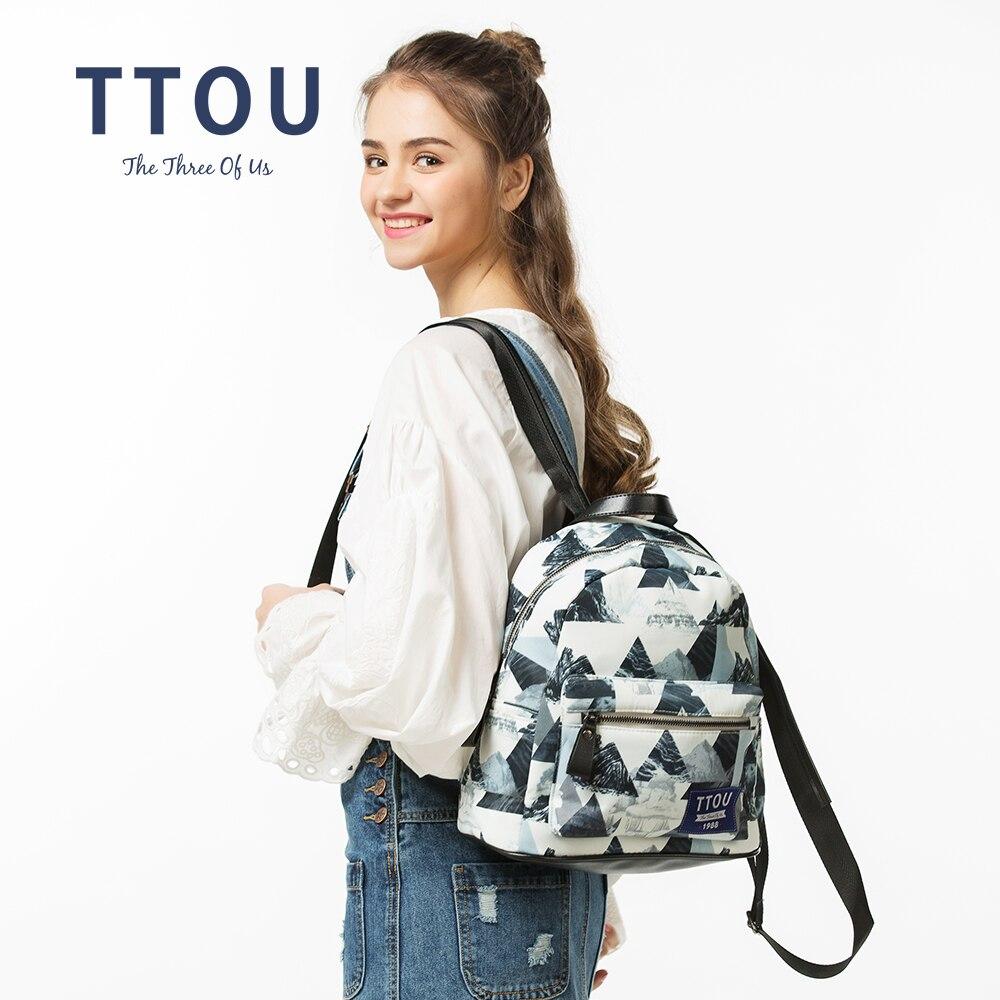 TTOU Dizajn Moda Geometrijski ispis Ruksak Tinejdžerski Djevojke - Ruksaci - Foto 3