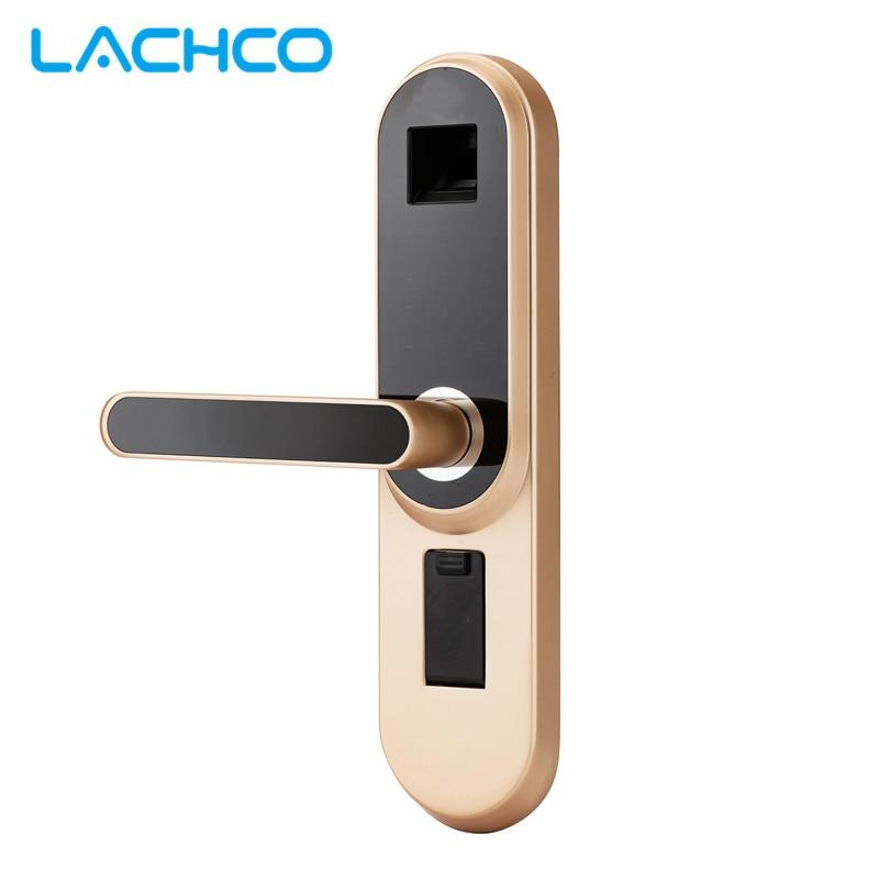LACHCO Biométrico Fechadura Electrónica, Código, Chave da Tela de Toque Digital Fingerprin Senha Fechadura da porta Inteligente keyless entry L19013F