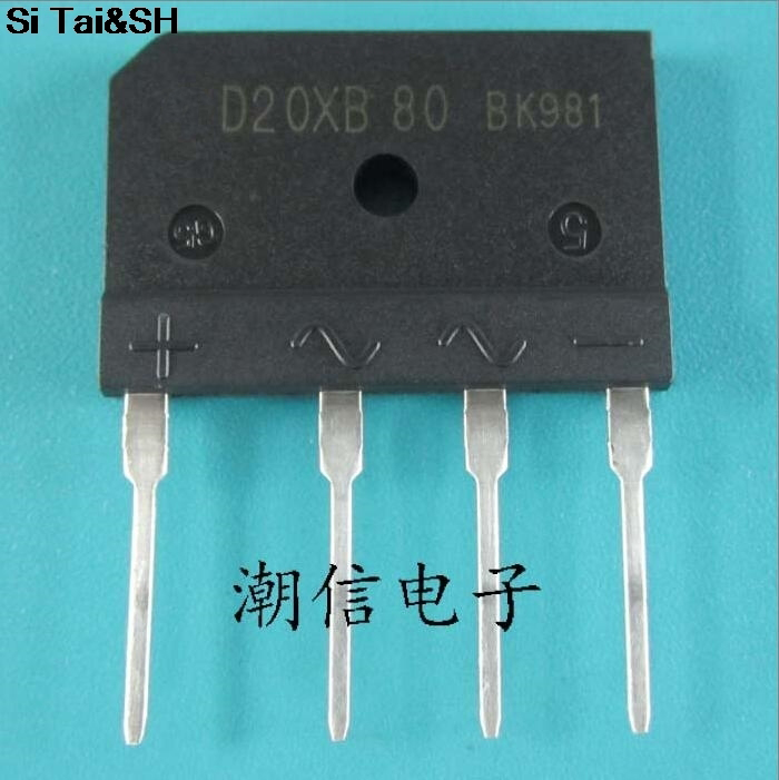 10Pcs D20XB60 D20SB60 D20XB80 D20SB80 DIP-4 25A 600V/800V Bridge Rectifiers