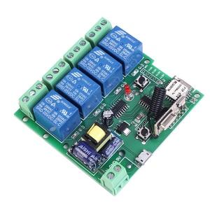 Image 2 - 220V 4 Kanaals Wifi Relais Module Telefoon APP Draadloze Afstandsbediening WIFI Schakelaar Jog Self Lock Interlock + 433M Afstandsbediening