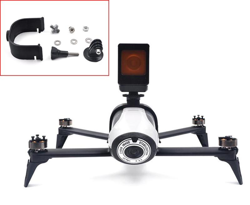 Top Bracket Camera Mount Extension LED Light Holder Clip Sports Cam Fixing Stand Mount For Parrot BEBOP 2 Quad Drone DIY Parts
