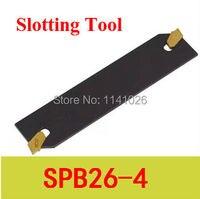 Aletler'ten Torna Takımı'de Ücretsiz Kargo SPB 26 4 Endekslenebilir Parçası Bıçak 26mm Için Yüksek Takım SMBB 1626/2026/ 2526 Kullanılan SP200 Ekler  torna Makinesi için