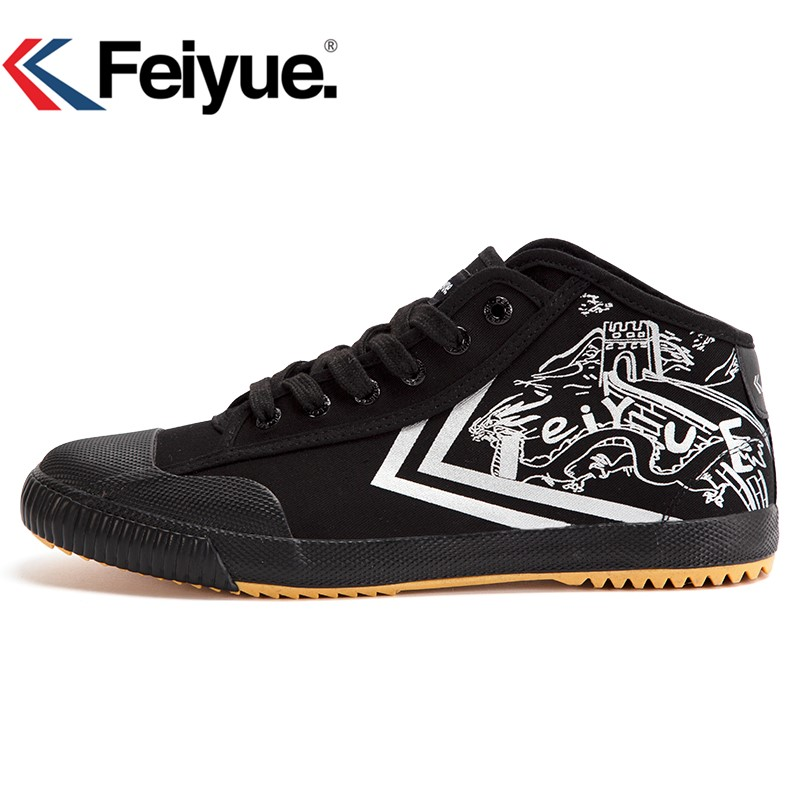 Feiyue New High Black Shoes Kungfu Retro Martial Arts Shoes Women Men Sneakers